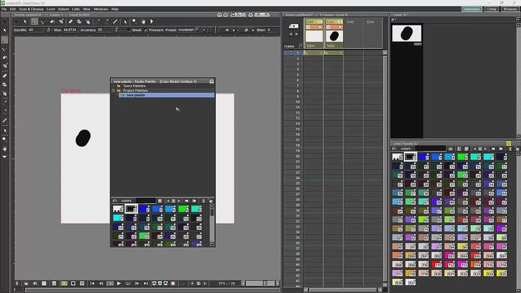 Opentoonz Tutorial 11 The Studio Palette and the Colour Model on Vimeo