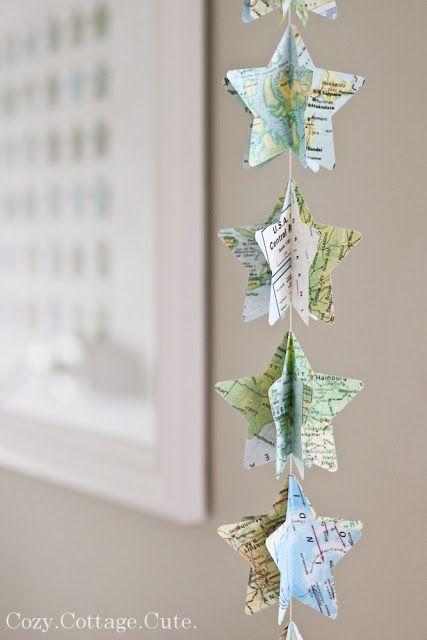 Ameland landkaart ster, om ons te herinneren aan onze origami sterren in onze memory jars.