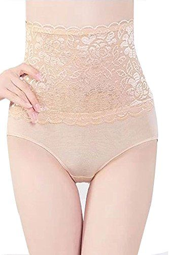 Womdee High Waist Shaping Gauze Lace Underwear Pantie With Womdee Accessory
