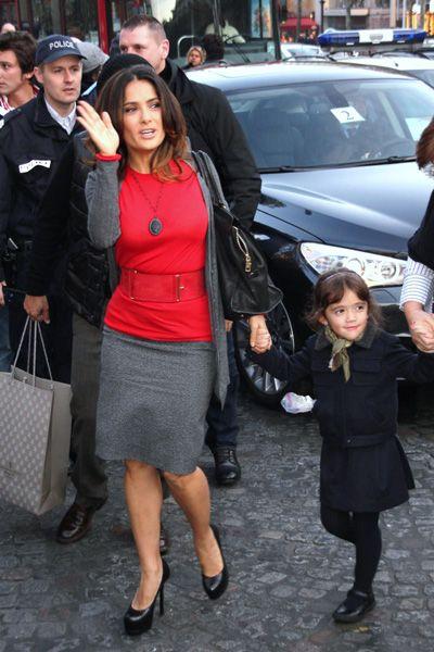 Salma Hayek and Valentina #momsover40 #pregnantat40