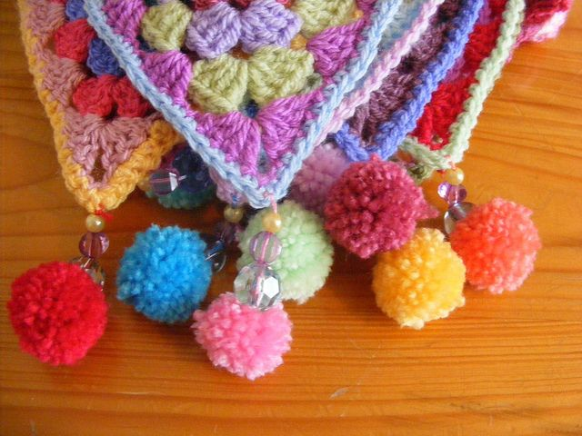 what a happy pretty bunting - would look lovely on our terrace  made by pinkfluffywarrior, ravelry