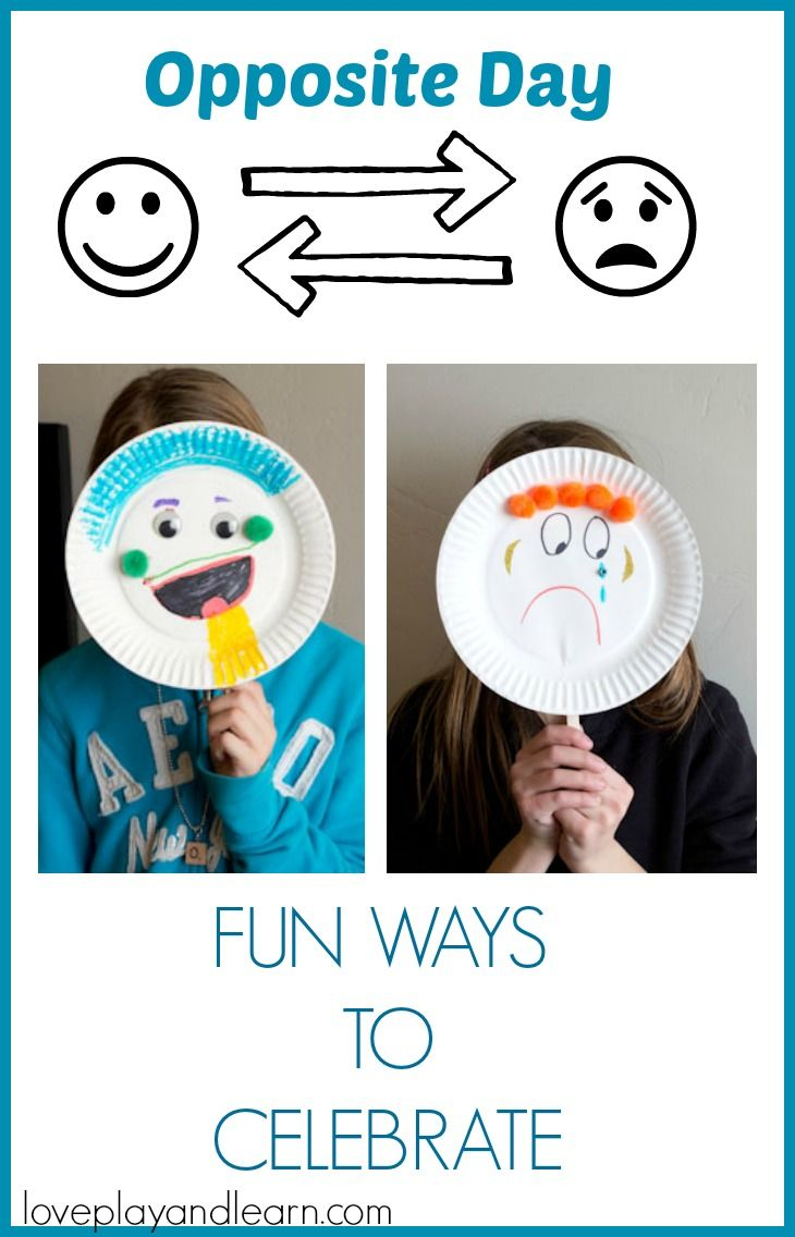 Opposite Day Craft Activity. Teach Opposites With This Paper ...