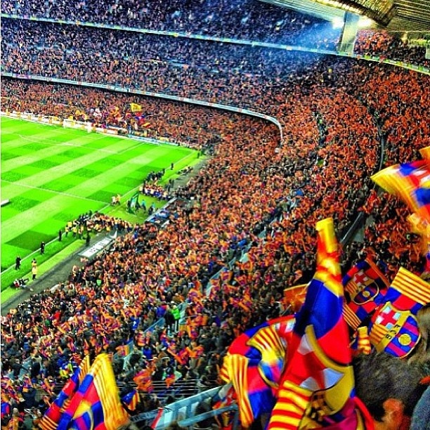 FC Barcelona fans. awesome stadium!