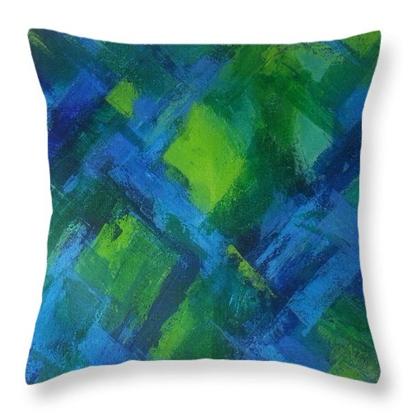 Throw Pillows - Abstract X Throw Pillow by Kathleen Wong