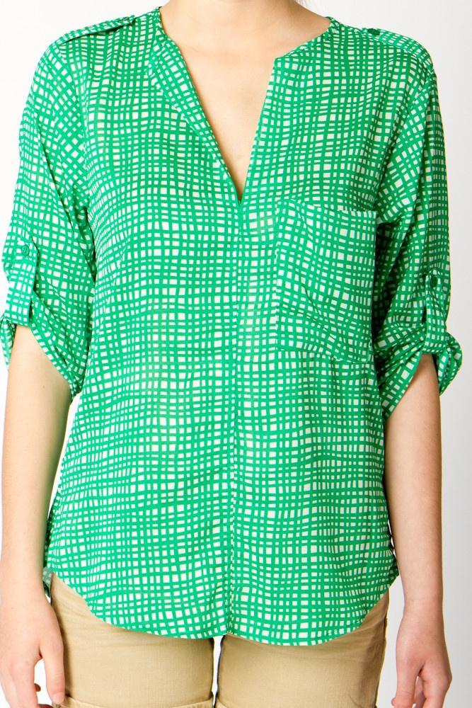 Hatch Print Chiffon BlouseChiffon Blouses, Dresses Tops, Prints Chiffon, Sewing Pattern, Green, Hatch Prints, Woman Clothing, Black, Women Clothing