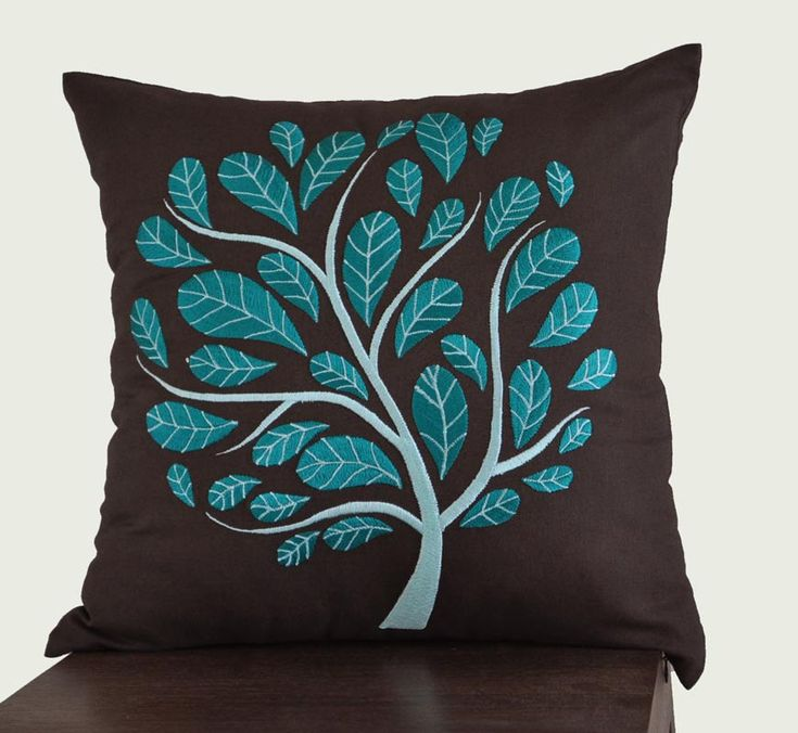 Decorative Pillows For Dark Brown Couch : 17 Best images about teal & brown bedroom on Pinterest Teal paint colors, Bedding and Queen ...