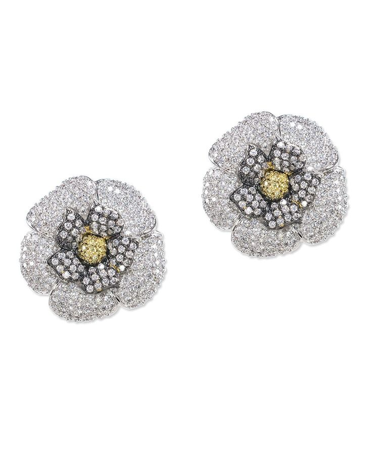 Kenneth Jay Lane Marquis Crystal Flower Drop Earrings BICLGf2s6
