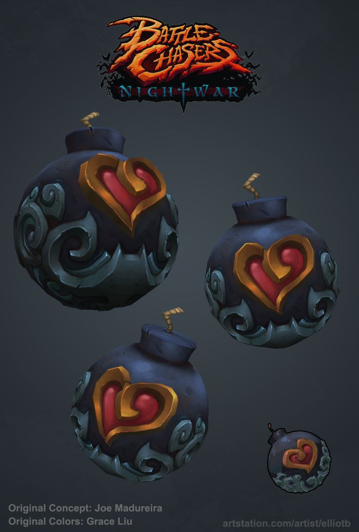 ArtStation - Fan Art: Battle Chasers Night War: Heart Weapons, Elliot Betancourt