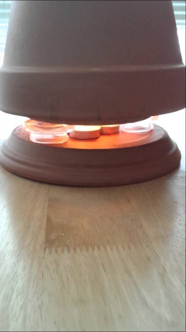 How To Make A Tea Light Space Heater This Is My Take On
