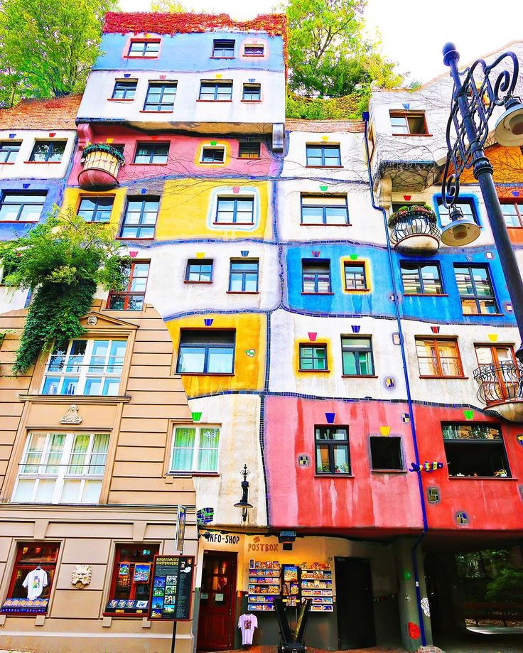 How funky is this apartment building in Vienna Austria?? You have to apply to live here and even if you are accepted you can only live here for a few months. The demand is so high! There is not a straight line in the entire architecture inside or out. I wonder what the rooms look like?? #vienna #austria #architecture #travel #wanderlust #wonderful_places #travelgram #bestvacations #instatravel #passionpassport #liveauthentic #travelphotography #lonelyplanet #neverstopexploring #travelawesome…