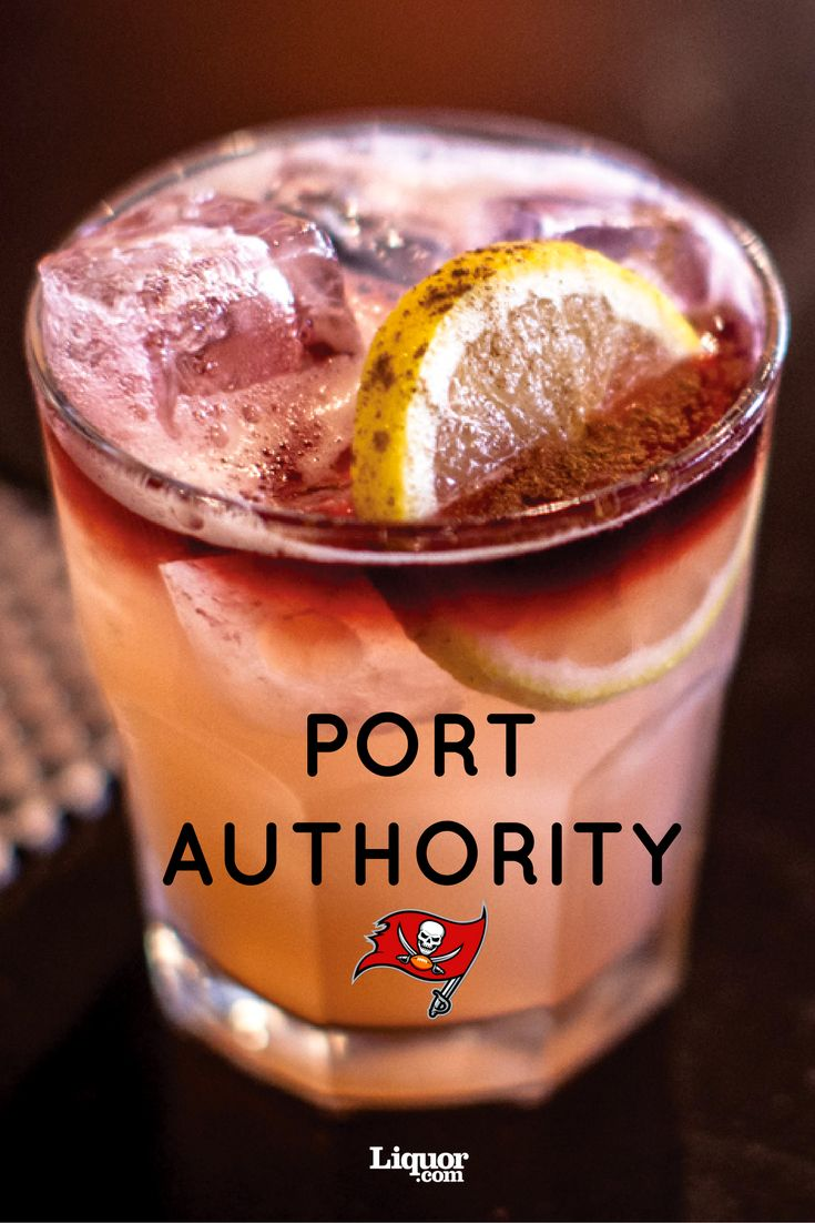 "For the 2016 NFL season, we had a bartender from each NFL team's hometown provide the perfect cocktail to represent their team.  For the Tampa Buccaneers, bartender Daniel Guess of Tampa's Fly says he decided to tap into Tampa's rich centuries-old rum history by swapping the Port of Call cocktail's gin for port-barrel-finished rum. ""The name Port Authority came to mind because of our bustling port system here in Tampa,"" says Guess. The two-toned drink represents the Bucs' team colors."