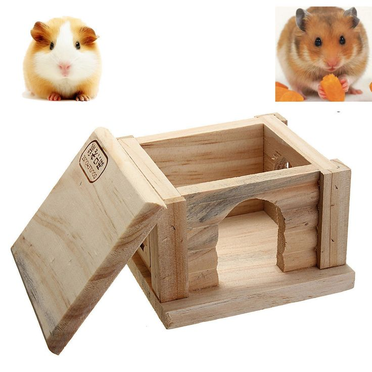 Toy Wooden Hamster House Bedroom Dwarf Cage Rat Mouse Gerbil Exercise Natural at Banggood