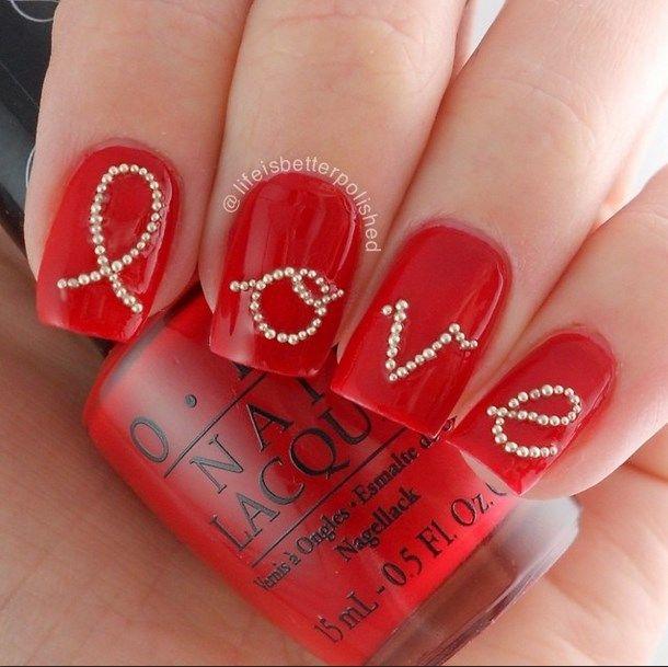 50 Love Nails Perfect For Romantics #naildesignideaz #naildesign #nailart  #lovenaildesign #lovenails - 49 Best Romantic Nail Designs Images On Pinterest Nail Art Ideas