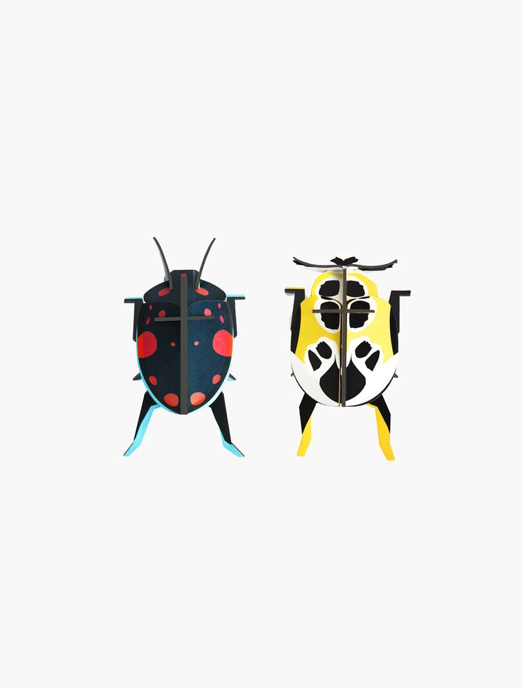 Beetles are little wonders of nature! Be an explorer, scientist or artist, and let yourself be inspired by these beautiful lady beetles. Build it, play with it or hang it on the wall as a decoration.