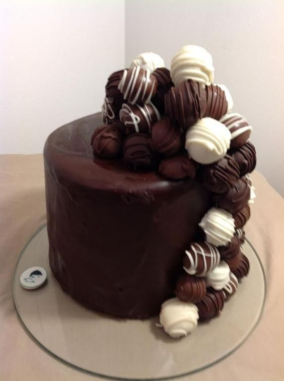 Cake Decorating: Chocolate Kahlua Cake Truffle Cake