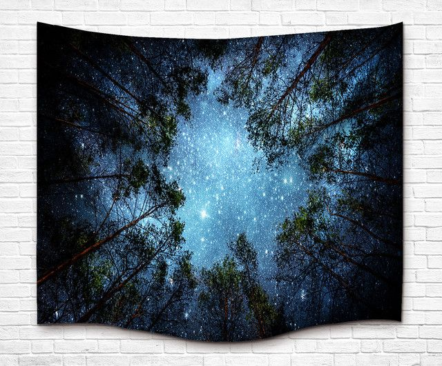 Drop Shipping Woods Sky Style Wall hanging Tapestry Bohemian Hippie Tapestry Round Beach Yoga Mat Beach Shawls