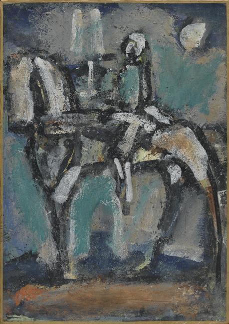 Georges Rouault (1871-1958) was een Franse expressionistische en fauvistische schilder. Het benadrukken van groteske trekken en emoties inspireerde expressionistische schilders. In 1910 werden zijn werken voor het eerst tentoongesteld in de Druet Galerie. Hier werden zijn werken bestudeerd door de Duitse kunstenaars uit Dresden die later de kern van het expressionisme vormden. Zij werden hierdoor sterk beïnvloed.