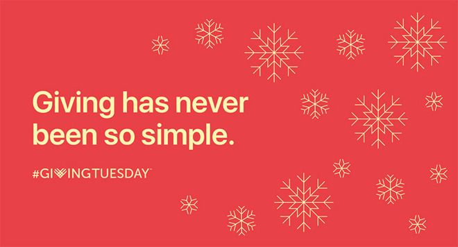 You can use Apple Pay to aid charities on Giving Tuesday (thats today)