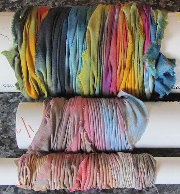 ready to do Arashi Shibori dye bath