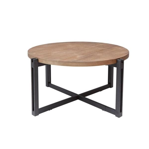 Household Essentials Ashwood Round Coffee Table In Light