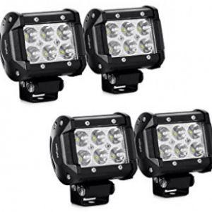 LED Light Bar Nilight 4PCS 18W 1260lm Spot led pods Driving Fog Light Off Road Lights Bar Jeep Lamp