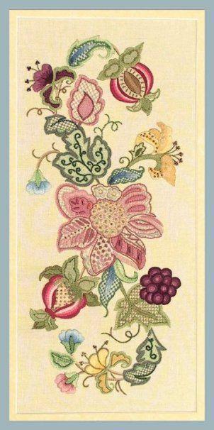 01 Jacobean Embroidery patterns by Hazel Blomkamp