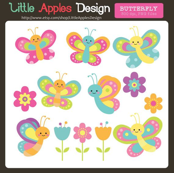 Butterfly Clip Art  **