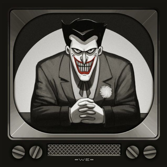 Mondo Reveals Batman: The Animated Series Album Covers! The Joker by Mike Mitchell