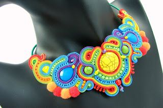 ranbow soutache necklace montownia monity