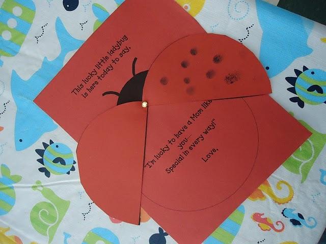 Ladybug Card for Mom