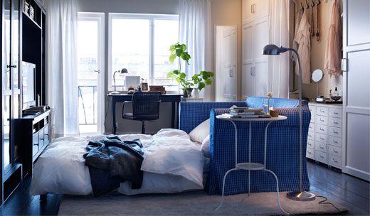 IKEA Sofa beds in white u0026 blue tons : Home Du00e9cor Style : Pinterest