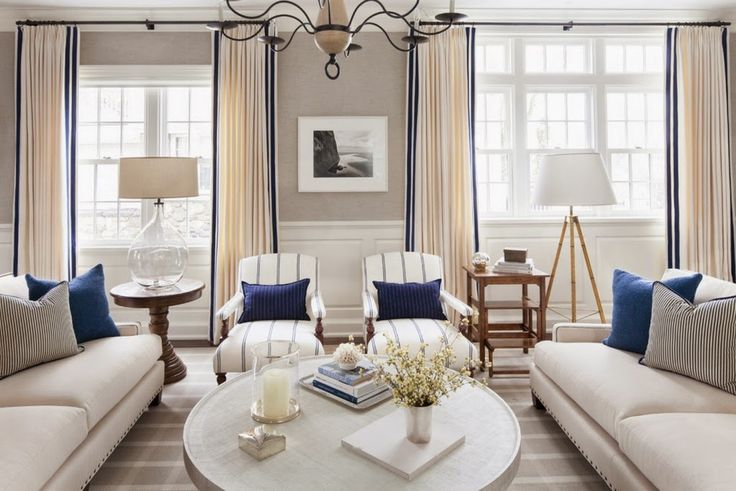 BLUE AND WHITE NAUTICAL INSPIRED ROOM VT Interiors - Library of Inspirational Images: In Navy Blue
