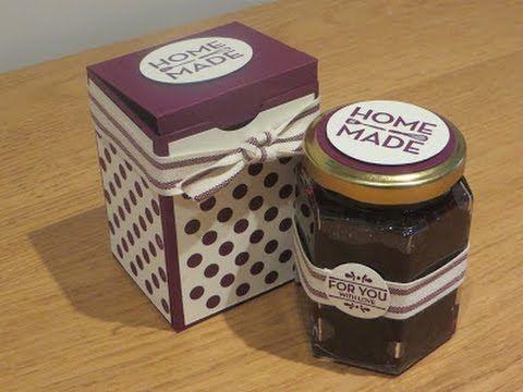 CraftyCarolineCreates: Jam Jar Gift Box Tutorial, handmade box for preserves using Stampin' Up Homemade for You.
