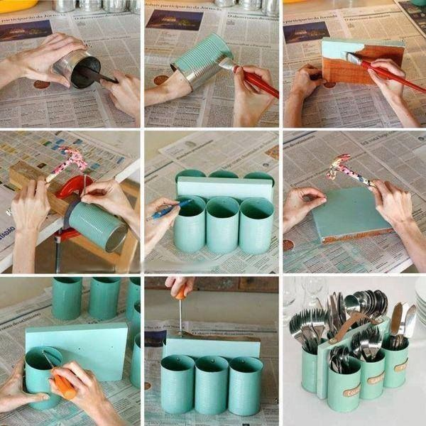Genius! I think I would make one side so I could put dishes or napkins in it.