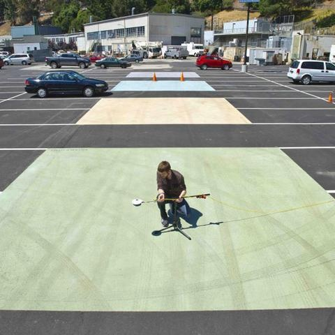 Light-colored, heat-reflecting asphalt and paint makes a parking lot cooler by 40 degrees Fahrenheit (22 degrees Celsius) on a hot day.