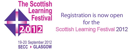 Scottish Learning Festival 2012.   Please come and introduce yourself at the Eduction Scotland Stand. Someone from the chidlren and families team will be there all day.