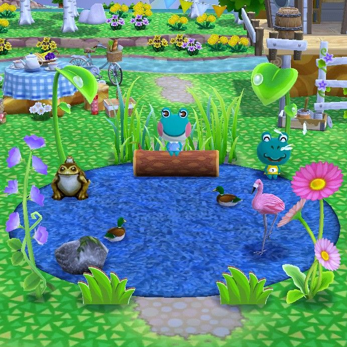 Frog lake 🐸 in 2020 Animal crossing pocket camp, Animal