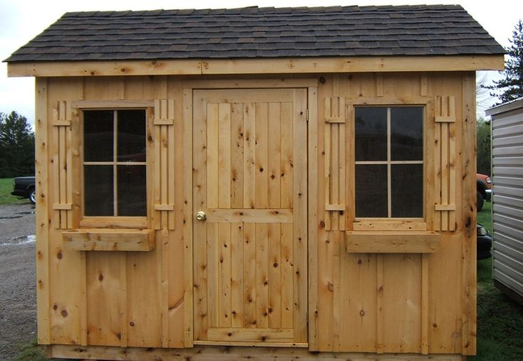 8ft x 10ft Pine shed by Flamborough Patio