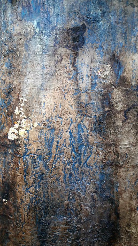 Best 25 textured painted walls ideas on pinterest - Metallic blue interior wall paint ...