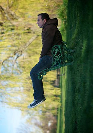 """Forced perspective photography can create some very unusual photographs. """"Take A Seat"""" captured by Guzzphoto."""