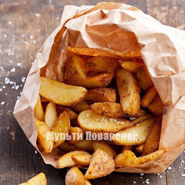Картофель по-деревенски в мультиварке: очень простой рецепт | Мультиповаренок