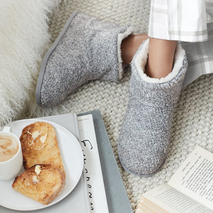 Bouclé Slipper Boots | Slippers & Socks | The White Company US