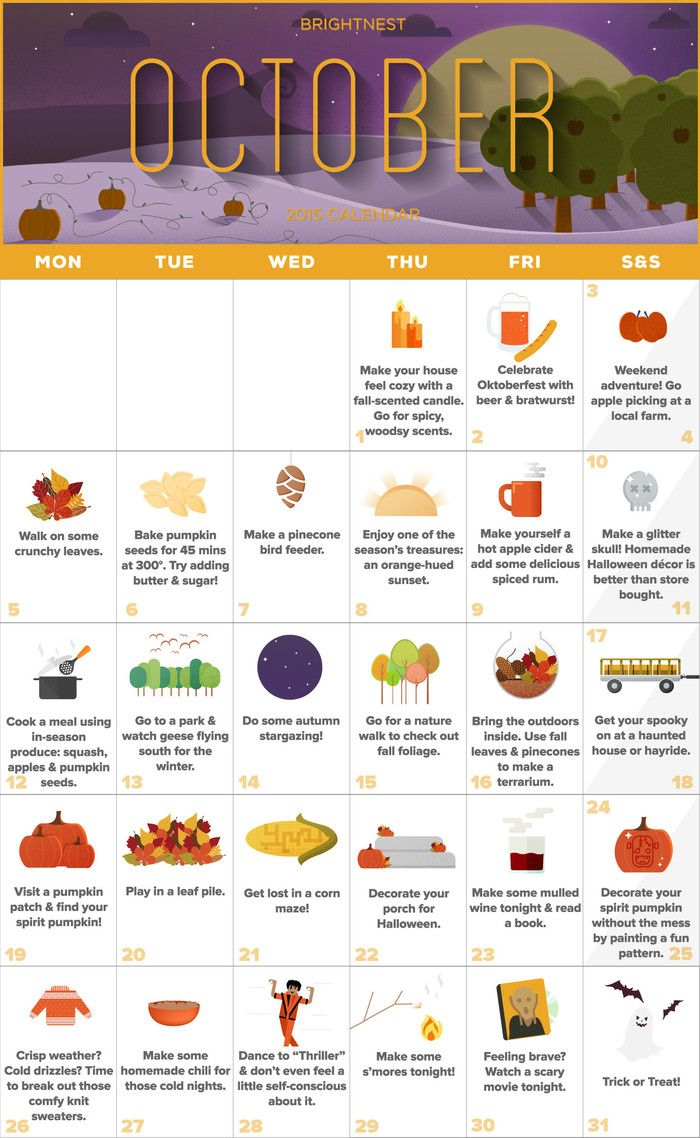 BrightNest | Your October Calendar for an Unforgettable Autumn (Printable!)