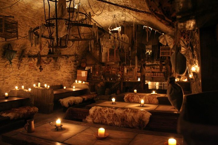 "The ""U pavouka"" tavern beneath Prague, Czech Republic. Taking you back several hundred years with performances by ""medieval"" men, pirates and bellydancers, as well as eat-with-your-hands medieval food. In short - I want to live there."