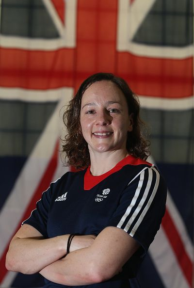 #RIO2016 Rebecca Gallantree of Britain poses for a picture as the Team GB diving team is announced for the Rio 2016 Olympic Games at the John Charles Centre...