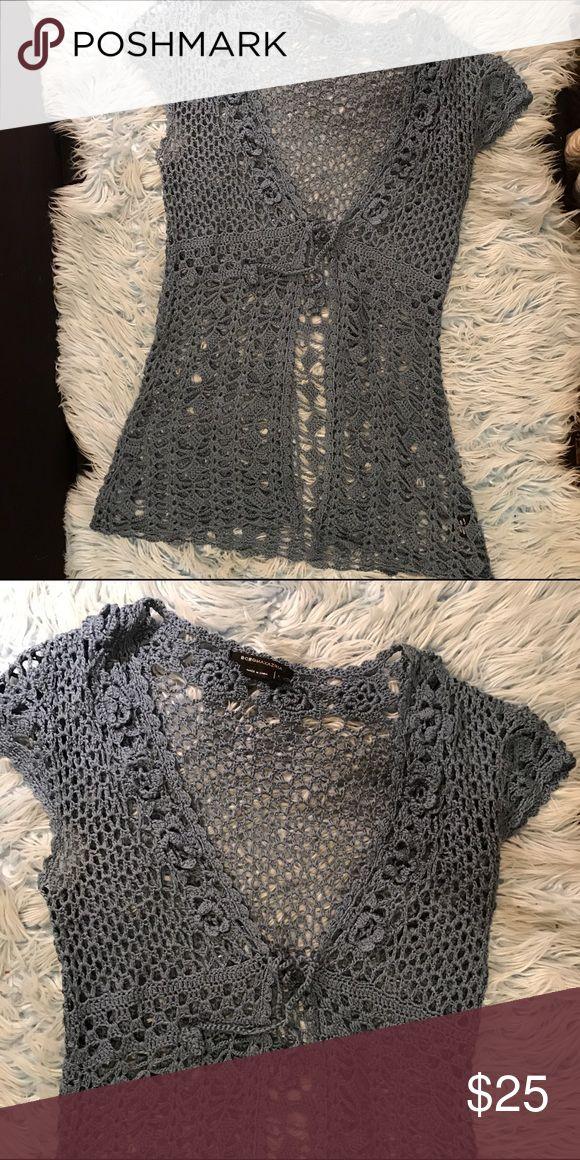 Crochet short sleeve top Crochet short sleeve sweater/top BCBGMaxAzria Tops