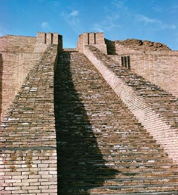 Escadaria do zigurate de Nanna, deus da Lua, em Ur, na Mesopotâmia