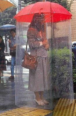 Umbrella tent  ~ LOL, but a GREAT idea!