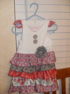 tshirt ruffle dress how to
