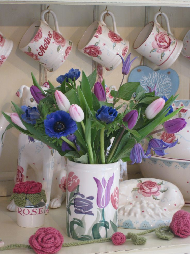 Emma Bridgewater vase & flowers, produced exclusively for Waitrose, March 2014